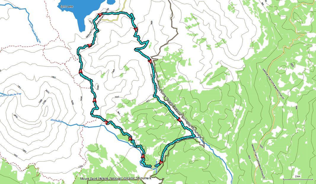 Mt St Helens not so average Loop