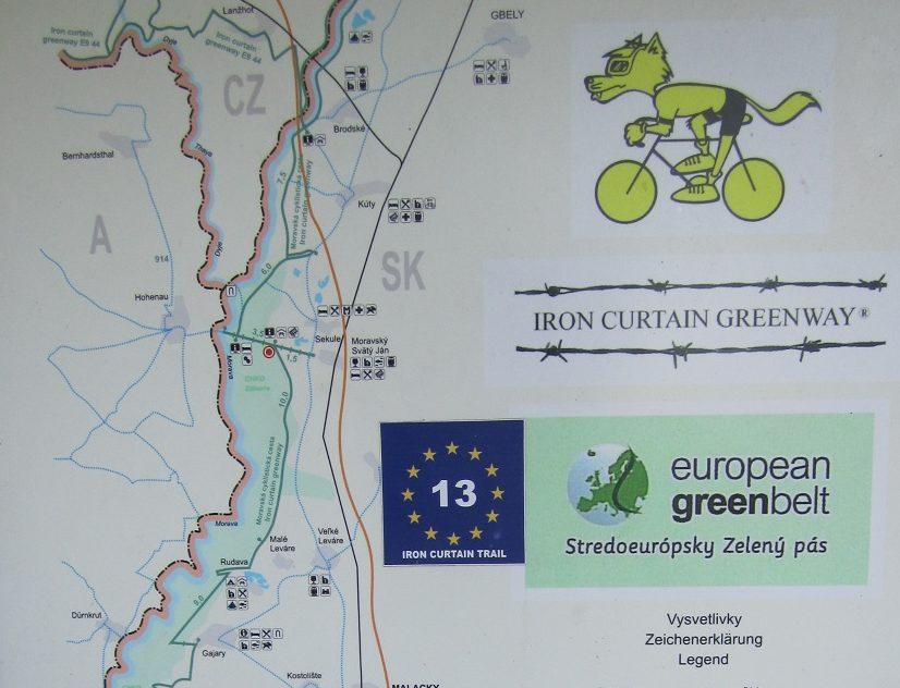 Beschilderung am Iron Curtain Trail - EV13